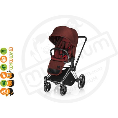 Cybex Priam Lux Seat Mars Red (chassis sold separately)