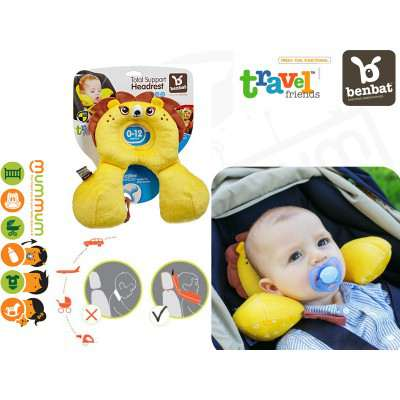 Benbat Travel Friends Head Neck Rest Support 0-12M Baby Lion