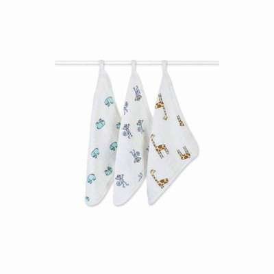 Aden & Anais Washcloth/Face cloth 3pack - Jungle Jam