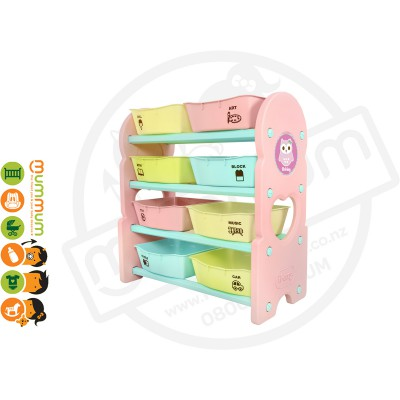 iFam Briring 4 Shelves Toy Orgaizer Pink L76xD36xH84 Made in Korea