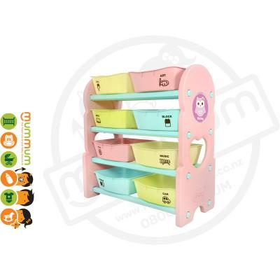 iFam Briring 4 Shelves Toy Orgaizer Pink L76xD36xH84 Made in Korea