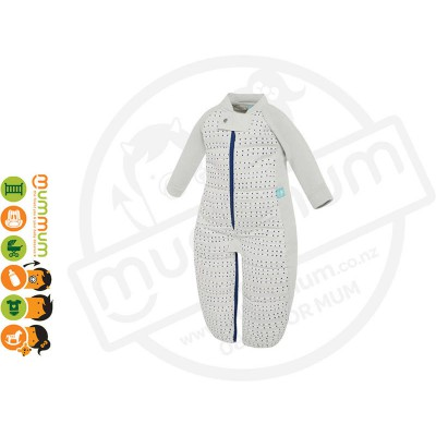 Ergopouch Sleepsuit Bag Blue Dot 3.5TOG Choose Sizes 8m-6Y Pure Cotton