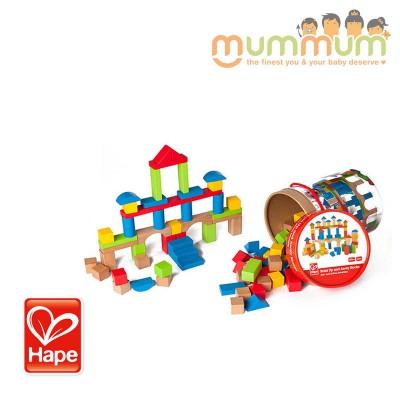 Hape Build Up and Away Wooden Blocks 100 pcs