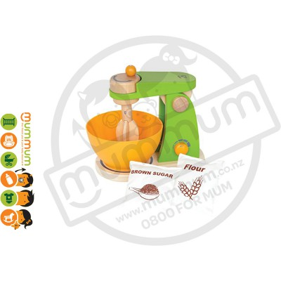 Hape Mighty Mixer Coloured Wooden Toy 4pcs