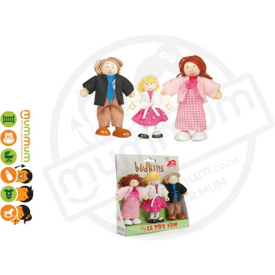 Le Toy Van Budkins Family Set 3Pcs