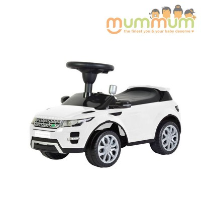 Range Rover Foot to Floor Ride On - White