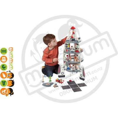 Hape Discovery Space Center Wooden Toy Set 37pcs