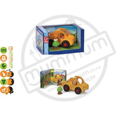Hape My Pickup Truck Book & Toy 3pcs Set 18M+