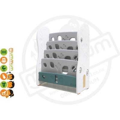 iFam DESIGN Open Book Shelf 4 Level Grey L80xD36xH92 Made in Korea