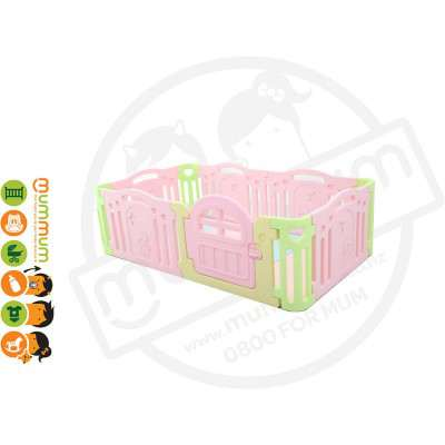 iFam Marshmallow Baby Room Playpen Expand Pink L2.13xW1.25xH66 Made in Korea