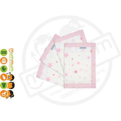 AIRWRAP 4 Sides Pink Star Bumper for Cot