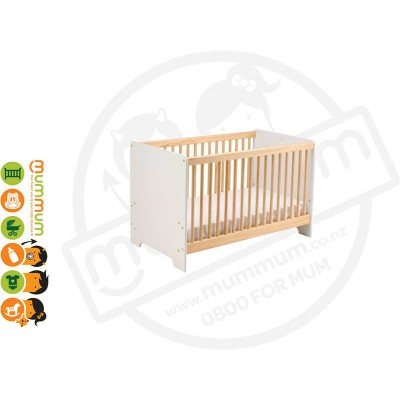 Cariboo cot contemporary Baby Cot Natural Proudly NZ Made