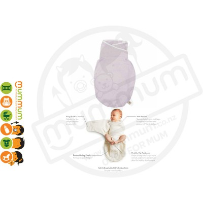 Ergobaby Newborn Swaddler LIGHTWEIGHT One Size For All Breathable Fabric Lilac