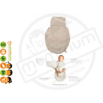 Ergobaby Newborn Swaddler LIGHTWEIGHT One Size For All Breathable Fabric Sand