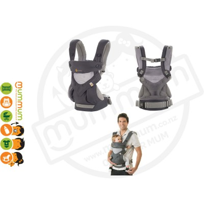 Ergobaby Four Position 360 Baby Carrier Cool Air Carbon Grey