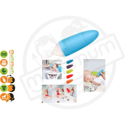 Boon Squirt Silicon Baby Food Dispensing Spoon (Blue)