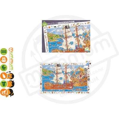 Djeco Puzzle Observation & Poster - Pirates, 100pcs