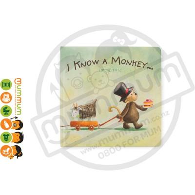 Jellycat Book - I Know A Monkey