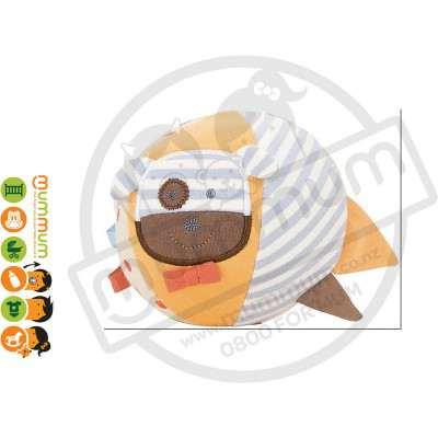 Apple Park Organic Farm Buddies Boxer Dog Soft Ball Toy Hypo-Allergenic