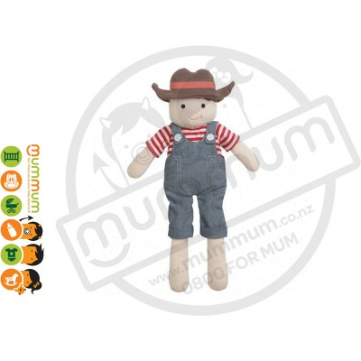 Apple Park  Organic Farm Buddies Barnyard Billy Plush Toy Hypo-Allergenic