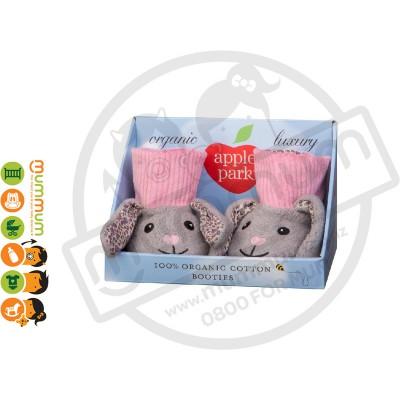 Apple Park 100% Organic Cotton Bunny Booties 1pair