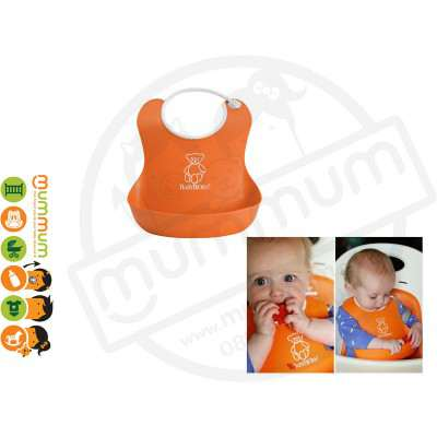 Babybjorn Soft Bib Orange Best Feeding Bib Easy Wash One last Forever