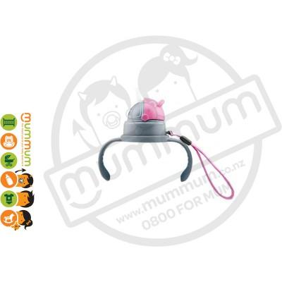 Haakaa Straw Cap & handle pink