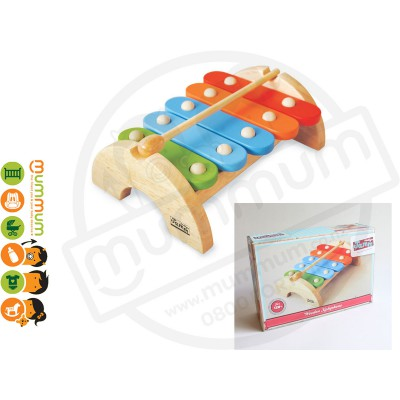 Jamm Wooden Raibow Xylophone Toy 1 Year Birthday Gift Boxed