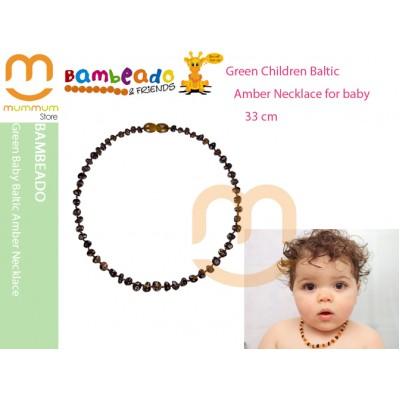 Bambeado Green Baby Baltic Amber Necklace