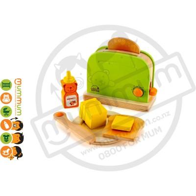 Hape Pop Up toaster Wooden Toy Set 10pcs Pretending Play