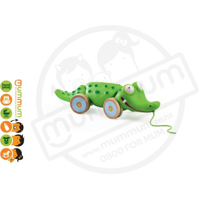 Djeco Pull Along Toy Croc n' Roll