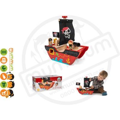 Le Toy Van Little Cap'n Pirate Boat Boys Birthday Gift