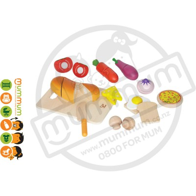 Hape Chefs Choice Wooden Cutting Kitchen Food