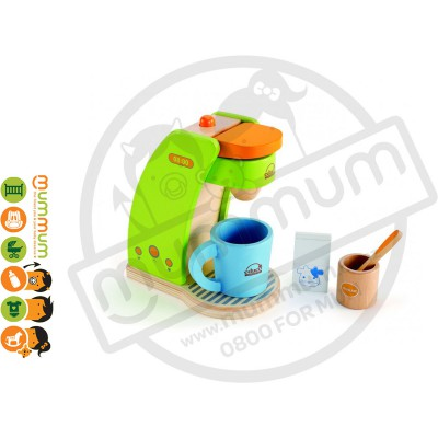 Hape Coffee Maker Kaffeemaschine Wooden Kitchen Toy Set 6pcs