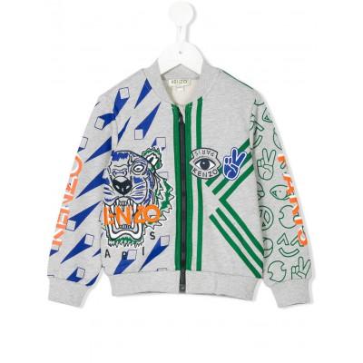 Kenzo Multi-Print Tiger Logo Zipped Sweatshirt 4A