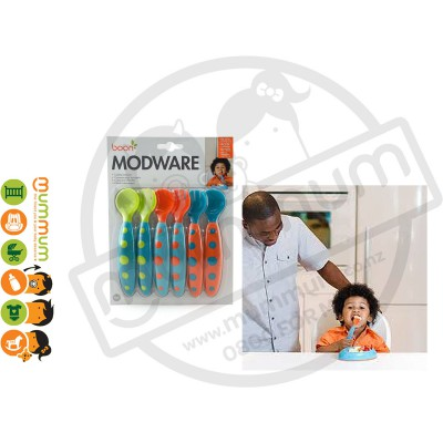 Boon Modware Toddler Fork & Spoon Utensils Set 6pcs