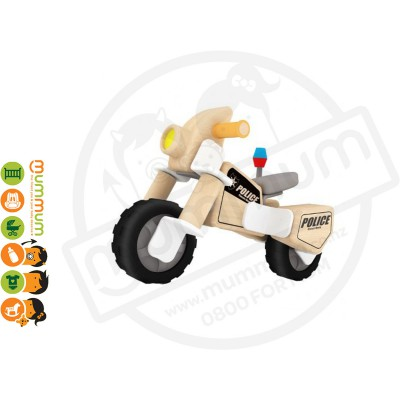 Classic World Police Motorcycle Wooden Building Set 27pcs