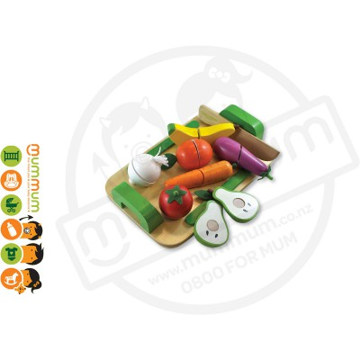 Discoveroo Wooden Fruit Vegetable Cutting Toys