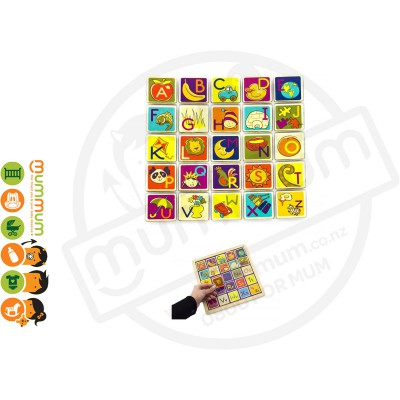 Battat B Toys Magnetic Alphabet Puzzle Wooden