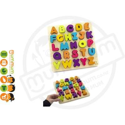 Battat B Toys Collection Alapha B. Tical Chunky Block Alphabet Puzzle