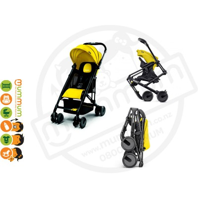 Recaro Easylife Travel Stroller Sunshine Yellow One Hand Fold Super Light