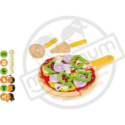 Hape Pretend kids Play Wooden Toy Homemade Pizza