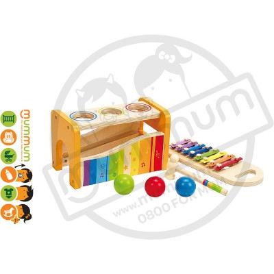 Hape Pound and Tap Bench 2 in 1 Musical Wooden Toy