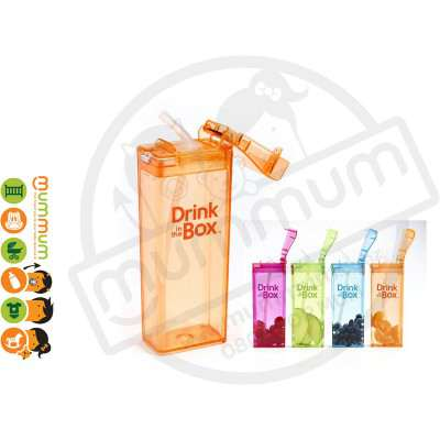 Drink In The Box Large 12oz/355ml Box Bottle - Orange