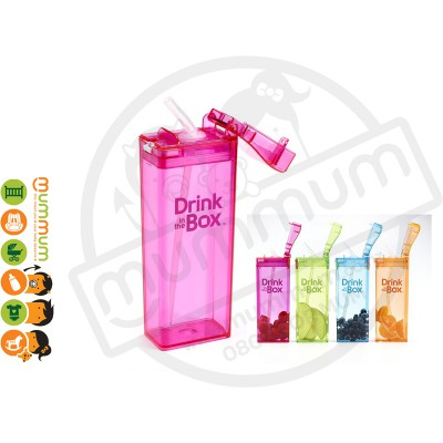 Drink In The Box Large 12oz/355ml Box Bottle - Pink