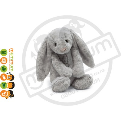 Jellycat Medium Bashful Bunny - Silver / Grey