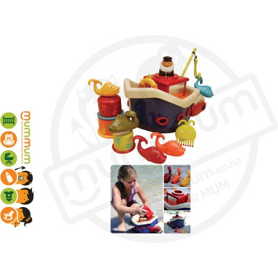 Battat Fish & Splish 13pcs Bath Toy Set Fishing Games