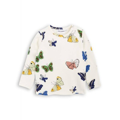 Mini Rodini Butterlfies LS Tee - Off White