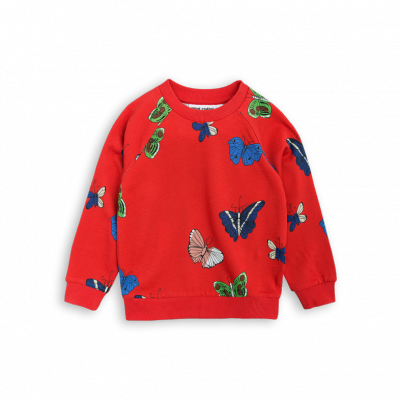 Mini Rodini Butterflies Sweatshit Red