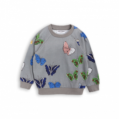 Mini Rodini Butterflies Sweatshirt Grey